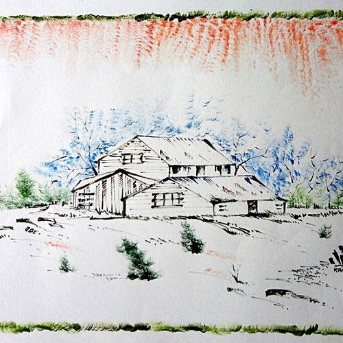 the nature 34, 35 x 28 inch, kankana  pal,nature paintings,paintings for living room,paper,mixed media,35x28inch,GAL08333984Nature,environment,Beauty,scenery,greenery