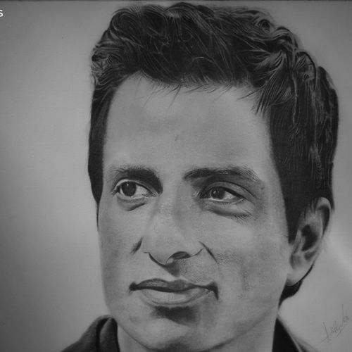 sonu sood, 14 x 17 inch, adithya girla,14x17inch,canson paper,drawings,paintings for dining room,paintings for living room,paintings for bedroom,paintings for office,paintings for kids room,paintings for hotel,realism drawings,paintings for dining room,paintings for living room,paintings for bedroom,paintings for office,paintings for kids room,paintings for hotel,graphite pencil,GAL02816439850