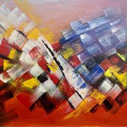 triumph of joy, 30 x 20 inch, pushpa nath jha,30x20inch,canvas,paintings,abstract paintings,paintings for living room,paintings for office,paintings for hotel,acrylic color,GAL01805639862