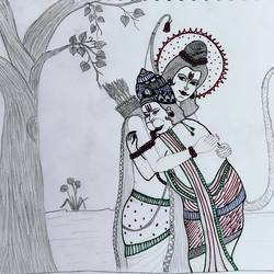 lord ram and lord hanuman hugging under a tree, 11 x 6 inch, madhavi jha,11x6inch,drawing paper,drawings,paintings for dining room,paintings for living room,paintings for bedroom,paintings for office,paintings for bathroom,paintings for kids room,paintings for hotel,paintings for kitchen,paintings for school,paintings for hospital,paintings for dining room,paintings for living room,paintings for bedroom,paintings for office,paintings for bathroom,paintings for kids room,paintings for hotel,paintings for kitchen,paintings for school,paintings for hospital,pencil color,ball point pen,GAL02713239867