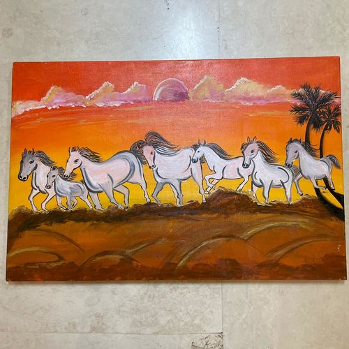 7 seven running horses with sunrise background vastu feng shui painting on canvas - prosperity and good luck to home - lucky charm painting, 20 x 30 inch, gaurangi gupta,20x30inch,canvas,paintings,nature paintings | scenery paintings,realism paintings,animal paintings,realistic paintings,horse paintings,paintings for dining room,paintings for living room,paintings for bedroom,paintings for office,paintings for bathroom,paintings for kids room,paintings for hotel,paintings for kitchen,paintings for school,paintings for hospital,paintings for dining room,paintings for living room,paintings for bedroom,paintings for office,paintings for bathroom,paintings for kids room,paintings for hotel,paintings for kitchen,paintings for school,paintings for hospital,acrylic color,GAL02814639883