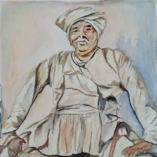 wise old, 12 x 16 inch, rajinder koul,12x16inch,thick paper,paintings,abstract paintings,figurative paintings,portrait paintings,impressionist paintings,photorealism,portraiture,realism paintings,paintings for dining room,paintings for living room,paintings for bedroom,paintings for office,paintings for bathroom,paintings for hotel,paintings for school,paintings for hospital,watercolor,paper,GAL01404539884