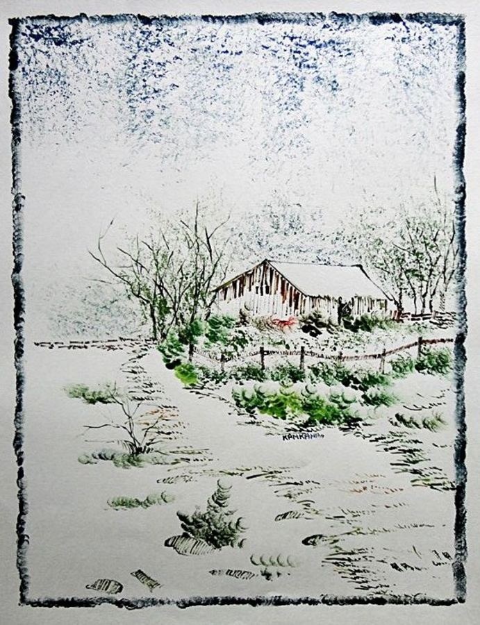 the nature 39, 28 x 35 inch, kankana  pal,nature paintings,paintings for living room,paper,mixed media,28x35inch,GAL08333989Nature,environment,Beauty,scenery,greenery