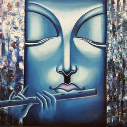 calm amongst the chaos , 36 x 30 inch, shikha gupta,36x30inch,canvas,paintings,religious paintings,paintings for living room,paintings for hotel,paintings for hospital,paintings for living room,paintings for hotel,paintings for hospital,oil color,GAL02817739911