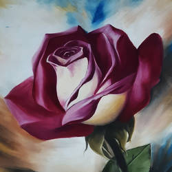 rose, 24 x 36 inch, shikha gupta,24x36inch,canvas,paintings,flower paintings,oil color,GAL02817739915