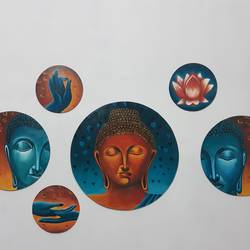 peace of wall, 30 x 30 inch, shikha gupta,30x30inch,wood board,paintings,buddha paintings,acrylic color,GAL02817739916