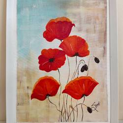 flower painting, 12 x 17 inch, simran solkar,12x17inch,canvas,paintings,abstract paintings,flower paintings,nature paintings | scenery paintings,paintings for dining room,paintings for living room,paintings for bedroom,paintings for office,paintings for kids room,acrylic color,GAL02750639922