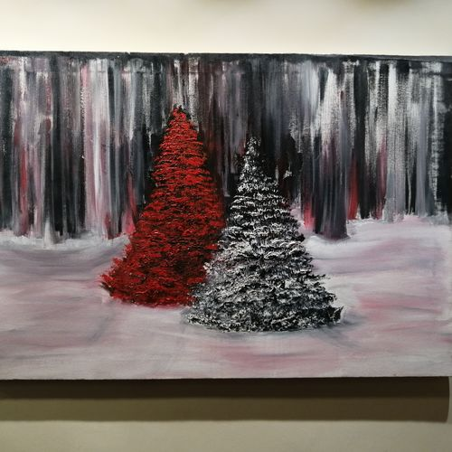 it's christmas lets make the warmth of the painting enter our house and hearts , 35 x 24 inch, joanna  kamalini,35x24inch,canvas,paintings,abstract paintings,paintings for living room,paintings for bedroom,paintings for office,paintings for hotel,acrylic color,GAL02783539924