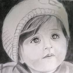 cute baby, 18 x 24 inch, jayakumar mahalingam,18x24inch,thick paper,portrait drawings,graphite pencil,GAL02829839946