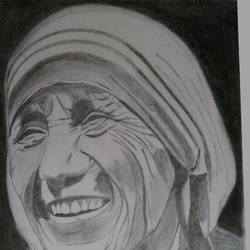 mother teresa, 18 x 24 inch, jayakumar mahalingam,18x24inch,thick paper,drawings,portrait drawings,graphite pencil,GAL02829839949