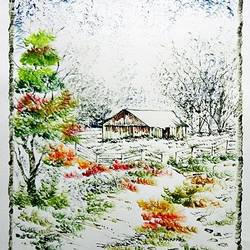 the nature 45, 28 x 35 inch, kankana  pal,nature paintings,paintings for living room,paper,mixed media,28x35inch,GAL08333995Nature,environment,Beauty,scenery,greenery