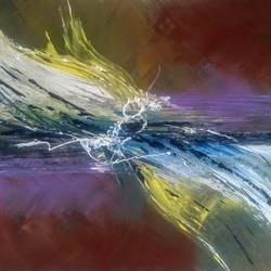 vibration 03, 20 x 24 inch, arpana d,abstract paintings,paintings for living room,canvas,acrylic color,20x24inch,GAL09643996