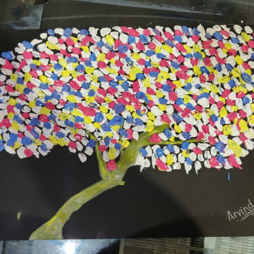 3 d colourful tree, 18 x 15 inch, arvind kumar gupta,18x15inch,drawing paper,paintings,abstract paintings,paintings for dining room,paintings for living room,paintings for bedroom,paintings for office,paintings for kids room,paintings for hotel,paintings for kitchen,paintings for school,paintings for hospital,acrylic color,paper,GAL02596639961