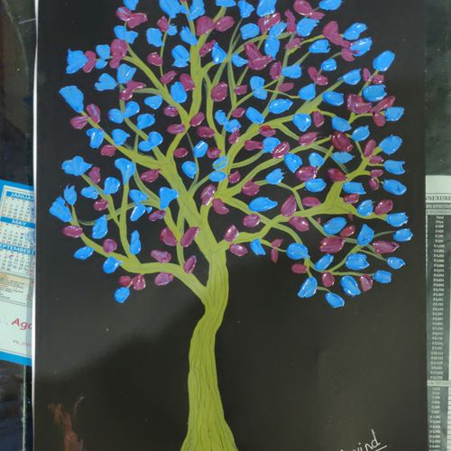 3d blue tree, 18 x 15 inch, arvind kumar gupta,18x15inch,drawing paper,paintings,abstract paintings,nature paintings | scenery paintings,abstract expressionism paintings,paintings for dining room,paintings for living room,paintings for bedroom,paintings for office,paintings for kids room,paintings for hotel,paintings for kitchen,paintings for school,paintings for hospital,acrylic color,paper,GAL02596639963