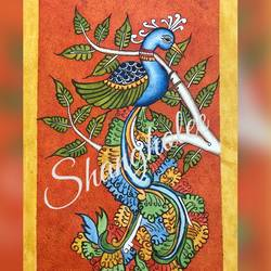 vibrant charming peacock- a perfect piece for living room and would definitely make lovely gift , 10 x 21 inch, mini  pillai,10x21inch,canvas,paintings,kerala murals painting,paintings for dining room,paintings for living room,paintings for bedroom,paintings for office,paintings for hotel,paintings for dining room,paintings for living room,paintings for bedroom,paintings for office,paintings for hotel,acrylic color,GAL02818139964