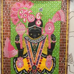 dwarakdhish, 30 x 43 inch, parashottmdas.natavarlal.darji darji,30x43inch,canvas,drawings,portrait drawings,paintings for dining room,paintings for living room,paintings for office,paintings for hospital,acrylic color,fabric,GAL02759739973