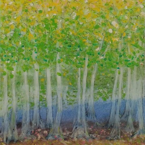 the woods, 8 x 12 inch, sooraj p,8x12inch,thick paper,paintings,nature paintings | scenery paintings,paintings for bedroom,pastel color,GAL02816339975