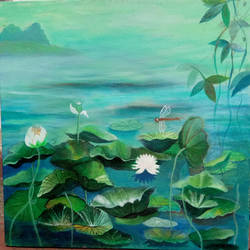 nature, 12 x 12 inch, chandrani banerjee,12x12inch,canvas,flower paintings,landscape paintings,conceptual paintings,nature paintings | scenery paintings,expressionism paintings,paintings for dining room,paintings for living room,paintings for bedroom,paintings for office,paintings for hotel,paintings for dining room,paintings for living room,paintings for bedroom,paintings for office,paintings for hotel,acrylic color,GAL02832039987