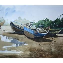 outside river, 22 x 13 inch, soyli saha,22x13inch,handmade paper,abstract paintings,landscape paintings,nature paintings   scenery paintings,paintings for dining room,paintings for living room,paintings for bedroom,paintings for office,paintings for bathroom,paintings for kids room,paintings for hotel,paintings for kitchen,paintings for school,paintings for hospital,paintings for dining room,paintings for living room,paintings for bedroom,paintings for office,paintings for bathroom,paintings for kids room,paintings for hotel,paintings for kitchen,paintings for school,paintings for hospital,watercolor,GAL0606539990