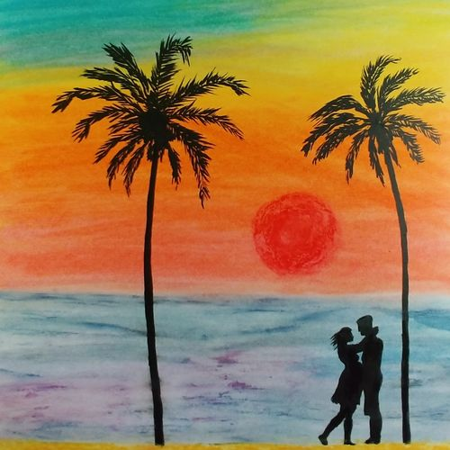 forever , 12 x 17 inch, sooraj p,12x17inch,ivory sheet,paintings,portrait paintings,paintings for living room,paintings for bedroom,paintings for hotel,pastel color,GAL02816340001