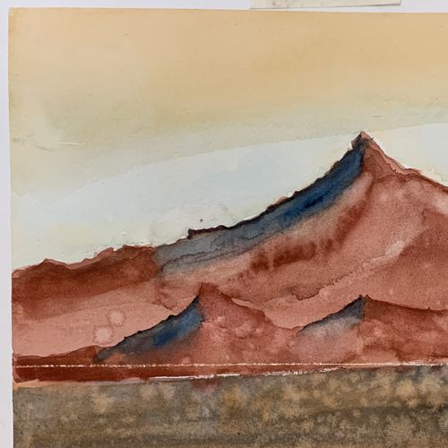 martian landscape, 11 x 8 inch, madhur  srivastav ,11x8inch,thick paper,paintings,abstract paintings,landscape paintings,paintings for living room,paintings for office,watercolor,GAL02756840007
