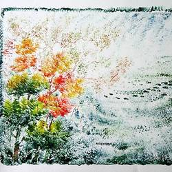 the nature 50, 35 x 28 inch, kankana  pal,nature paintings,paintings for living room,paper,mixed media,35x28inch,GAL08334001Nature,environment,Beauty,scenery,greenery