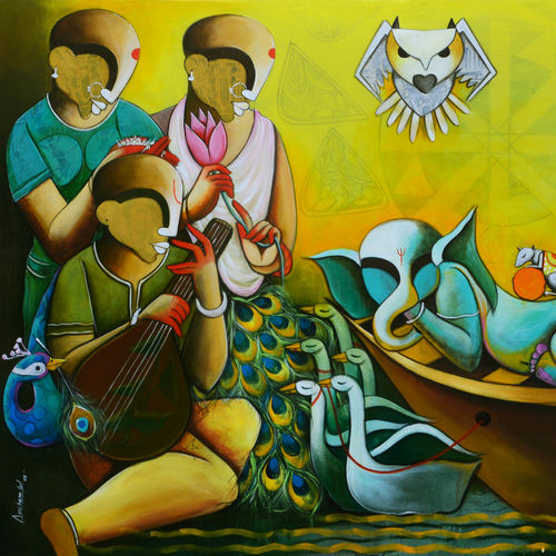 agamoni, 72 x 48 inch, anupam  pal,72x48inch,canvas,wildlife paintings,flower paintings,foil paintings,landscape paintings,conceptual paintings,religious paintings,still life paintings,miniature painting.,kerala murals painting,paintings for dining room,paintings for living room,paintings for bedroom,paintings for office,paintings for bathroom,paintings for kids room,paintings for hotel,paintings for kitchen,paintings for school,paintings for hospital,paintings for dining room,paintings for living room,paintings for bedroom,paintings for office,paintings for bathroom,paintings for kids room,paintings for hotel,paintings for kitchen,paintings for school,paintings for hospital,acrylic color,GAL08240020