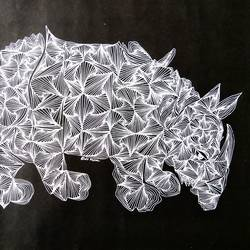the rhino, 18 x 14 inch, srimonti dutta,18x14inch,thick paper,drawings,abstract drawings,fine art drawings,paintings for dining room,paintings for living room,paintings for bedroom,paintings for office,paintings for hotel,paintings for hospital,ball point pen,GAL02833840021