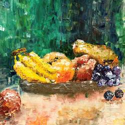 abstract fruits, 18 x 14 inch, isha shah,18x14inch,canvas,abstract paintings,still life paintings,acrylic color,GAL02476540027