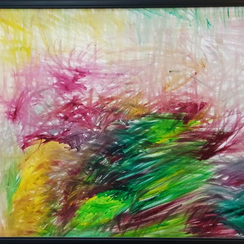 spring sonata, 24 x 16 inch, prithipal sethi,24x16inch,canvas,paintings,abstract paintings,modern art paintings,nature paintings | scenery paintings,paintings for dining room,paintings for living room,paintings for bedroom,paintings for office,paintings for hotel,acrylic color,GAL02839640044