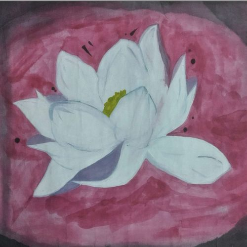 lotus , 22 x 14 inch, nitesh suthar,nature paintings,paintings for living room,paintings,thick paper,watercolor,22x14inch,GAL08464006Nature,environment,Beauty,scenery,greenery