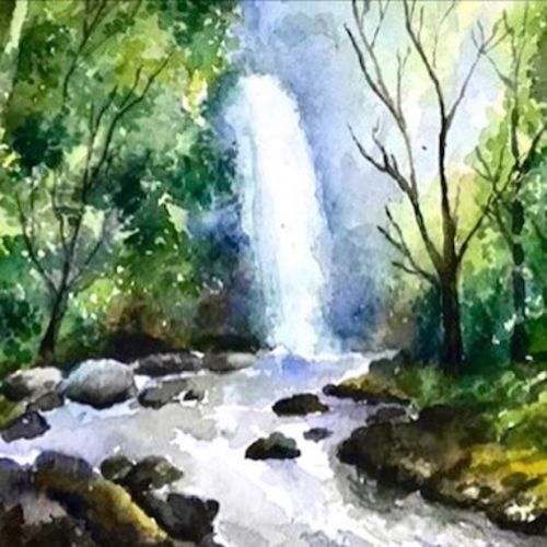 abstract forest waterfall 2, 15 x 10 inch, sowmika anjuru,15x10inch,renaissance watercolor paper,paintings,wildlife paintings,landscape paintings,paintings for dining room,paintings for living room,paintings for bedroom,paintings for office,paintings for kids room,paintings for hotel,paintings for school,paintings for hospital,paintings for dining room,paintings for living room,paintings for bedroom,paintings for office,paintings for kids room,paintings for hotel,paintings for school,paintings for hospital,watercolor,paper,GAL02829540062