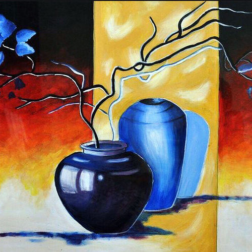 blue shine, 35 x 24 inch, sowmika anjuru,35x24inch,oil sheet,paintings,abstract paintings,flower paintings,modern art paintings,paintings for living room,paintings for bedroom,paintings for office,paintings for hotel,paintings for school,paintings for hospital,acrylic color,paper,GAL02829540067