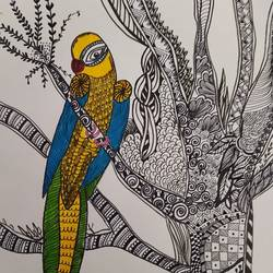 bird zentangle, 12 x 16 inch, deepika manohar,12x16inch,cartridge paper,paintings for office,paintings for kids room,paintings for hotel,paintings for school,modern drawings,paintings for office,paintings for kids room,paintings for hotel,paintings for school,pen color,paper,GAL02791040072