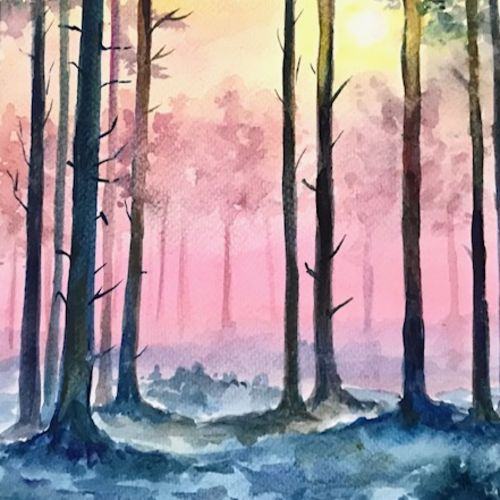 sunset by the forest , 17 x 23 inch, sowmika anjuru,17x23inch,brustro watercolor paper,wildlife paintings,nature paintings   scenery paintings,paintings for dining room,paintings for living room,paintings for bedroom,paintings for office,paintings for bathroom,paintings for kids room,paintings for hotel,paintings for kitchen,paintings for school,paintings for hospital,paintings for dining room,paintings for living room,paintings for bedroom,paintings for office,paintings for bathroom,paintings for kids room,paintings for hotel,paintings for kitchen,paintings for school,paintings for hospital,watercolor,paper,GAL02829540077