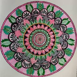 mandala, 12 x 16 inch, deepika manohar,12x16inch,cartridge paper,drawings,abstract drawings,modern drawings,paintings for living room,paintings for office,paintings for hotel,paintings for school,paintings for hospital,pen color,paper,GAL02791040078
