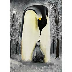 mother and baby penguin animal deep portrait , 26 x 36 inch, gaurangi gupta,26x36inch,canvas,paintings,wildlife paintings,portrait paintings,nature paintings | scenery paintings,photorealism,portraiture,realism paintings,animal paintings,contemporary paintings,paintings for dining room,paintings for living room,paintings for bedroom,paintings for office,paintings for kids room,paintings for hotel,paintings for kitchen,paintings for school,paintings for hospital,paintings for dining room,paintings for living room,paintings for bedroom,paintings for office,paintings for kids room,paintings for hotel,paintings for kitchen,paintings for school,paintings for hospital,acrylic color,GAL02814640105