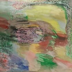 writing on the wall, 10 x 10 inch, prithipal sethi,10x10inch,thick paper,paintings,abstract paintings,conceptual paintings,abstract expressionism paintings,paintings for dining room,paintings for bedroom,paintings for office,pastel color,watercolor,GAL02839640117