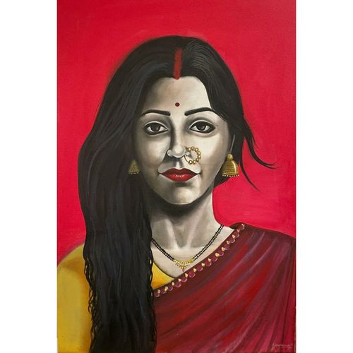 mahamaya, 24 x 36 inch, gaurangi gupta,24x36inch,canvas,paintings,abstract paintings,modern art paintings,religious paintings,still life paintings,portrait paintings,expressionism paintings,photorealism paintings,photorealism,portraiture,radha krishna paintings,contemporary paintings,paintings for dining room,paintings for living room,paintings for bedroom,paintings for kids room,paintings for hotel,paintings for kitchen,paintings for hospital,paintings for dining room,paintings for living room,paintings for bedroom,paintings for kids room,paintings for hotel,paintings for kitchen,paintings for hospital,acrylic color,GAL02814640118