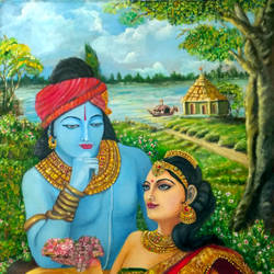 radha_gopalam, 20 x 30 inch, saiprasshant paladugu,20x30inch,canvas,paintings,figurative paintings,conceptual paintings,religious paintings,portrait paintings,impressionist paintings,radha krishna paintings,contemporary paintings,paintings for dining room,paintings for living room,paintings for bedroom,paintings for office,paintings for kids room,paintings for hotel,paintings for kitchen,paintings for school,paintings for hospital,oil color,GAL01151540123