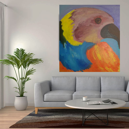 parrot painting, 15 x 19 inch, home decor ideas taneja,15x19inch,canvas,paintings,abstract paintings,modern art paintings,kids paintings,paintings for dining room,paintings for living room,paintings for bedroom,paintings for office,paintings for bathroom,paintings for kids room,paintings for hotel,paintings for kitchen,paintings for school,paintings for hospital,acrylic color,pen color,GAL01105940140