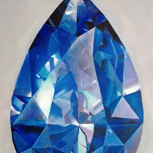 blue beauty diamond, 15 x 25 inch, md moin ,15x25inch,canvas,realistic paintings,paintings for living room,paintings for office,paintings for living room,paintings for office,acrylic color,GAL01096040154