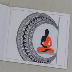 buddha mandala art, 8 x 11 inch, manisha g,8x11inch,drawing paper,drawings,folk drawings,buddha drawings,paintings for dining room,paintings for living room,paintings for office,paintings for hotel,paintings for school,paintings for hospital,ink color,paper,GAL02842040179