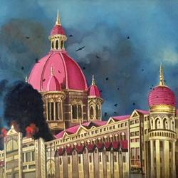 taj hotel, 33 x 38 inch, balbir art  gallery,33x38inch,canvas,paintings,conceptual paintings,paintings for dining room,paintings for living room,paintings for bedroom,paintings for office,paintings for hotel,paintings for kitchen,oil color,GAL01076540188