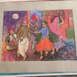 indian festival, 14 x 10 inch, priyanka rajput,14x10inch,thick paper,paintings,folk art paintings,poster color,paper,GAL02850440198