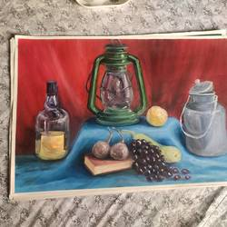 still life , 21 x 14 inch, priyanka rajput,21x14inch,thick paper,still life paintings,oil color,paper,GAL02850440199