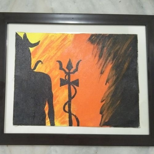 mahadev , 11 x 14 inch, raghav kaushal,11x14inch,canvas,paintings,lord shiva paintings,paintings for bedroom,acrylic color,GAL02852140220