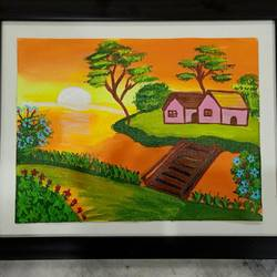 nature scenery, 11 x 14 inch, raghav kaushal,11x14inch,canvas,paintings,landscape paintings,paintings for bedroom,acrylic color,GAL02852140222