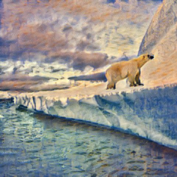 polar bear , 40 x 30 inch, camille campbell,40x30inch,canvas,paintings,wildlife paintings,landscape paintings,impressionist paintings,mixed media,GAL02852240225