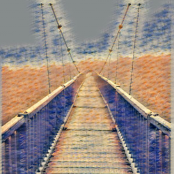 stand alone bridge , 40 x 30 inch, camille campbell,40x30inch,canvas,paintings,landscape paintings,impressionist paintings,mixed media,GAL02852240227